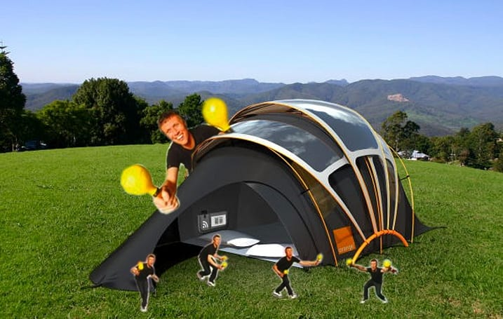 Orange's Solar Concept Tent has lots of revolutionary, imaginary features