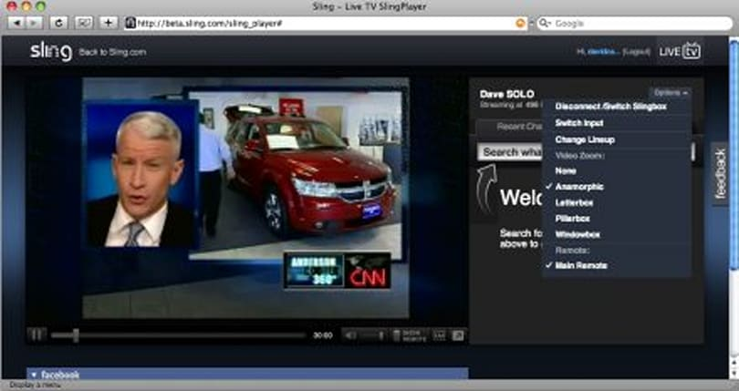SlingPlayer for Mac HD browser plugin beta launched