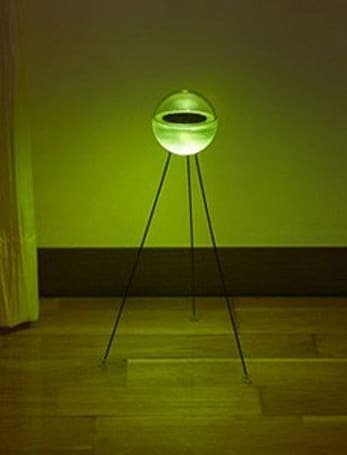 IDEA's Solar lamp glows like a Sputnik heatshield