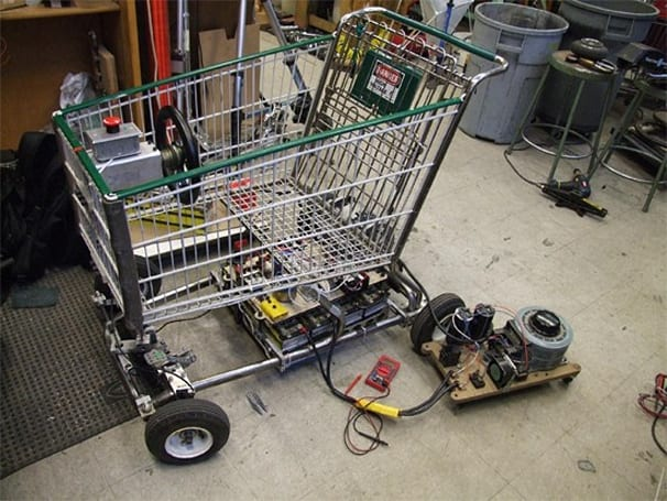 Video: Grocery cart morphs into electric go-kart, insanity ensues