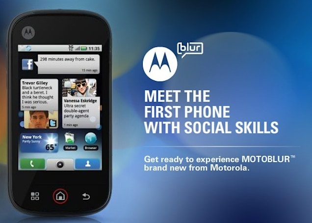 Motorola introduces the MOTOBLUR Android skin