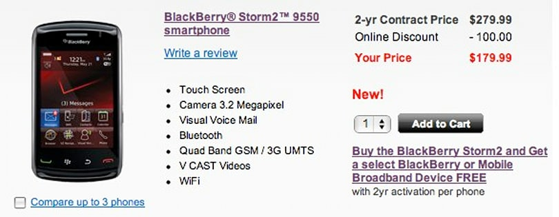 Storm2 now available from Verizon for those who waited