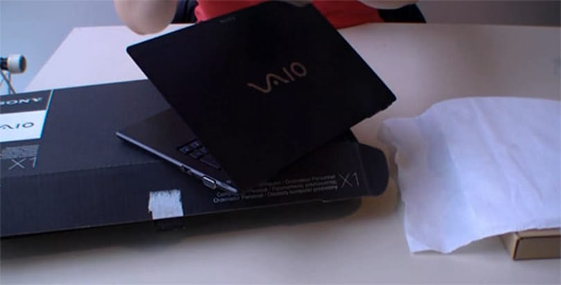 Sony's VAIO X ultraportable gets gently unboxed on video