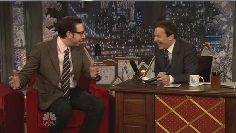 Jimmy and 'the nerdy guy' yuk it up Late Night style (video)