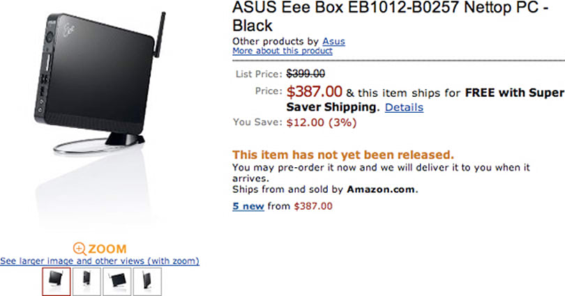 ASUS' Ion-powered EeeBox EB1012 resurfaces on Amazon in sub-$400 range