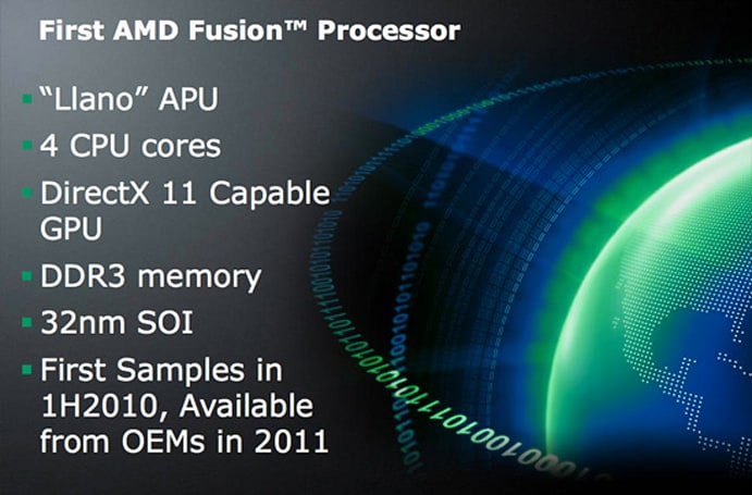 AMD Fusion sampling soon, arriving in 2011 with Llano APU