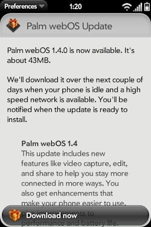 Palm webOS 1.4 update hits Verizon's Pre Plus and Pixi Plus