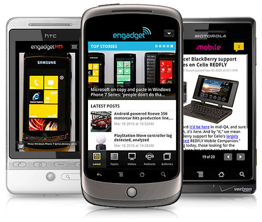 Engadget app updated for Android and webOS