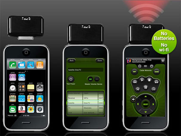 i-Got-Control IRB1 dongle gives your iPhone / iPod touch universal remote functionality