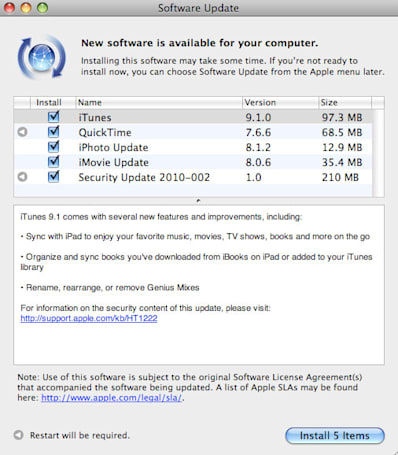 iTunes 9.1 now available, brings iPad syncing and iBook support