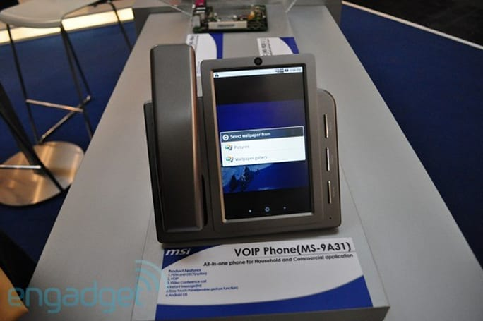 MSI caught showing off VoIP video conferencing phone running Android