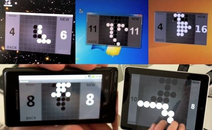 Adobe AIR developer demonstration: one game, five platforms, all the same code