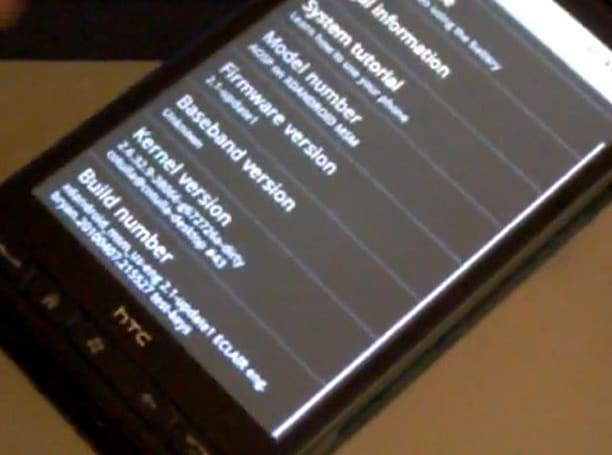 HTC HD2 caught running Android 2.1 and Ubuntu with touchscreen enabled (video)