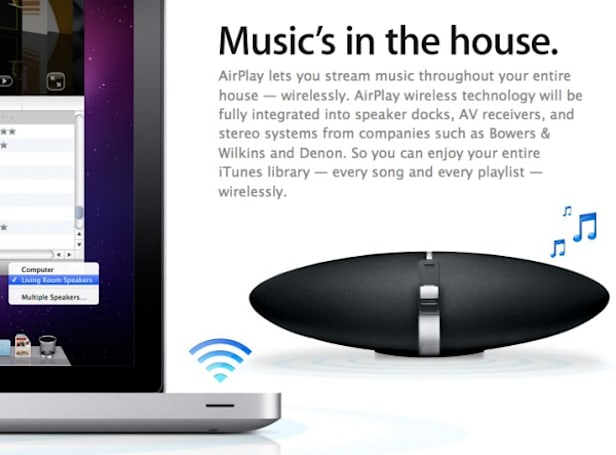 Apple's AirPlay music streaming coming to third party speaker docks, receivers, and stereos