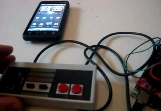 NES controller pressed into service to Android overlord (video)