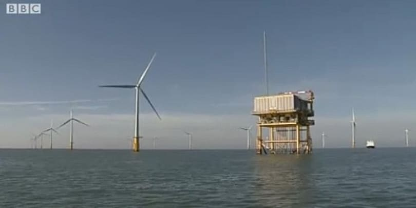 World's largest offshore wind farm spins into action off the coast of Britain