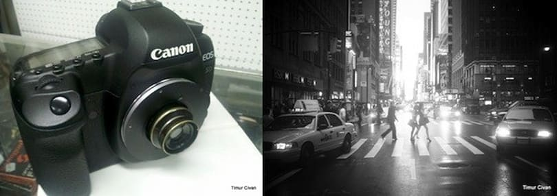 Canon 5D Mark II goes back in time with circa-1908 lens