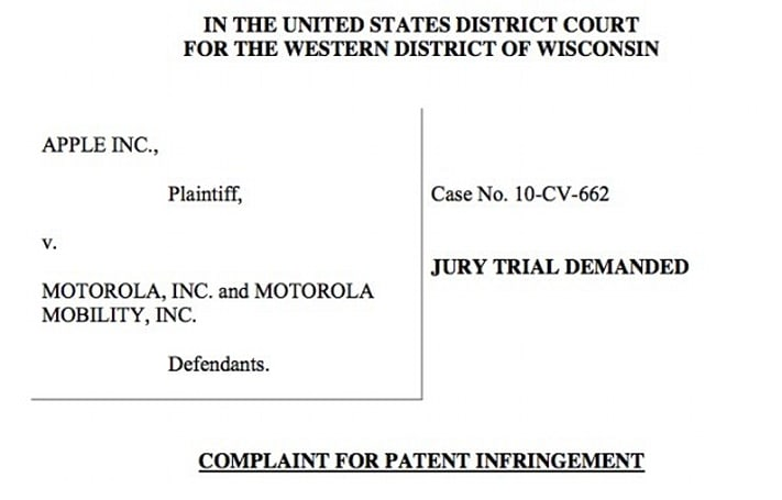 Apple sues Motorola right back over six patents