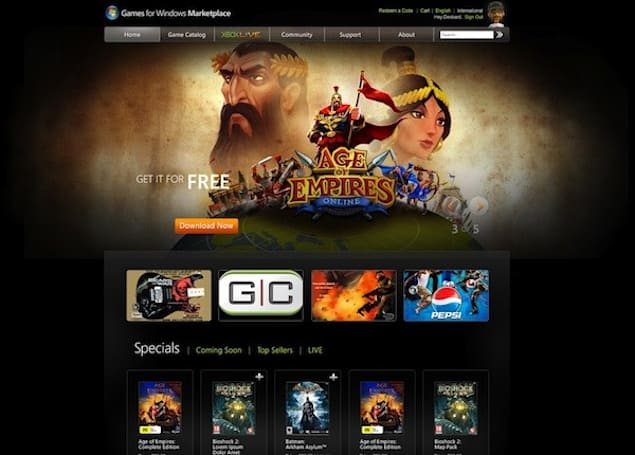 Microsoft Games for Windows Marketplace relaunches in your browser on November 15