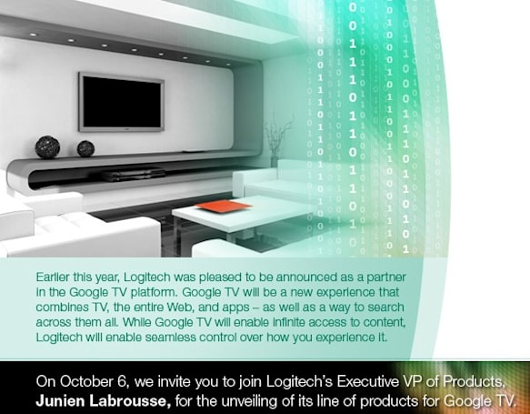 Logitech to unveil its Google TV lineup October 6th