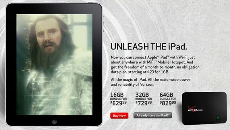 iPad now on sale from Verizon Wireless and AT&T