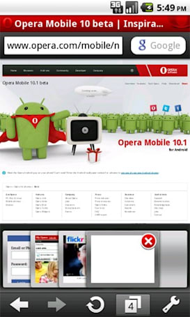 Opera Mobile 10.1 for Android hits public beta