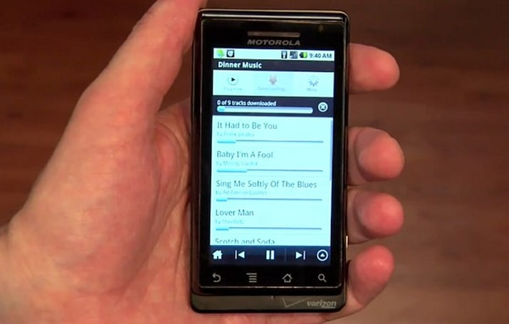 Rhapsody on Android now works offline, but still goes online too (video)