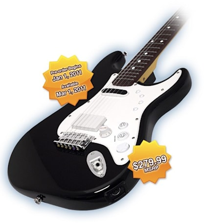Squier Stratocaster for Rock Band 3 set to tour March 1st for $280