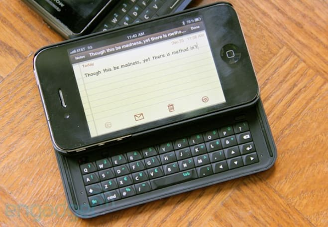 Nuu MiniKey for iPhone 4 preview: yep, another (bulky) keyboard case