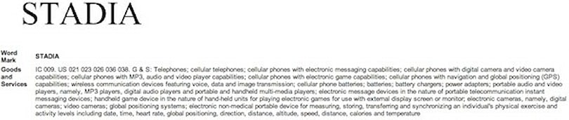 Motorola 'Stadia' trademark application hints at device with gaming / fitness features