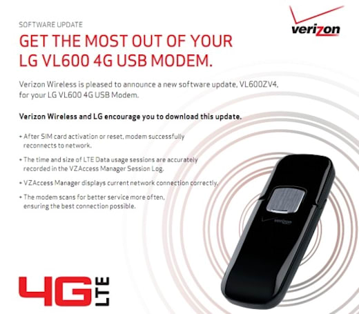 Verizon's 4G LTE dongles get Mac support in February