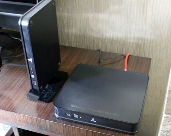 Iomega TV with Boxee chooses function over form, packs in a hard drive to boot