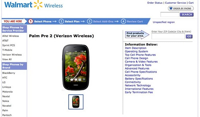 Verizon's Palm Pre 2 gets teased on Walmart's site... in case someone still cares