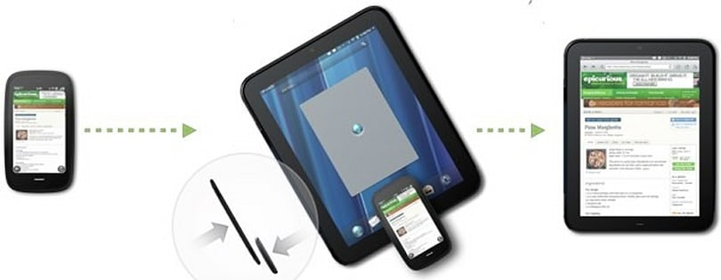 HP Touchstone Touch-to-share lets devices swap URLs, 'Exhibition' mode added for phones