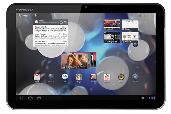 Motorola makes WiFi-only Xoom official: $599 on March 27th