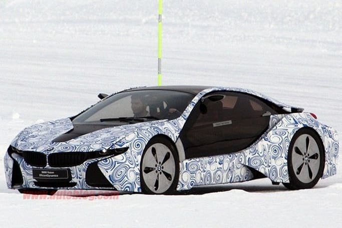 BMW's i3 and i8 prototypes caught on camera in garish attire