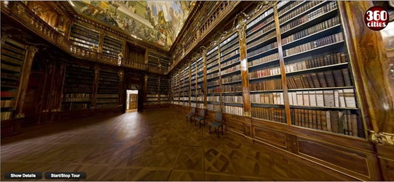 World's largest indoor photograph shows off fancy old Czech library