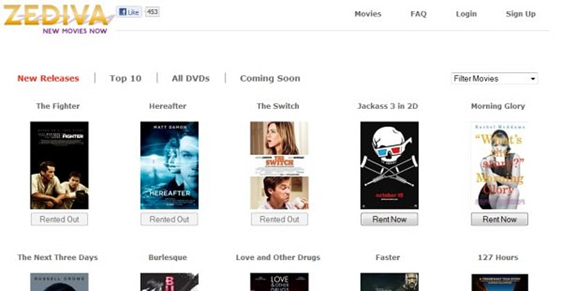 Zediva mashes up Netflix and Redbox for $1.99, four hour-window DVD streaming rentals