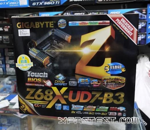 Gigabyte motherboard with Intel Z68 Express chipset on sale in Taiwan ahead of schedule