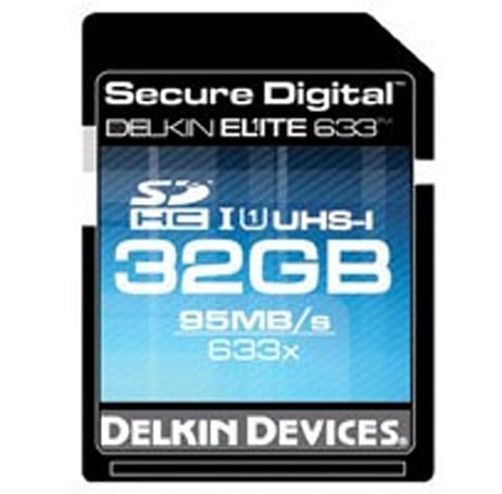 Delkin Elite 633 claims to be the fastest SDHC card with 80MBps write speeds