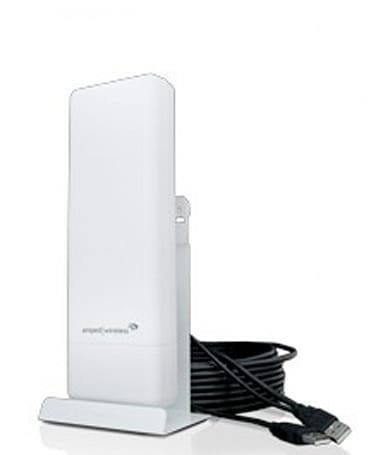 Amped Wireless' UA600EX adapter quadruples your laptop's WiFi range when you're on a boat