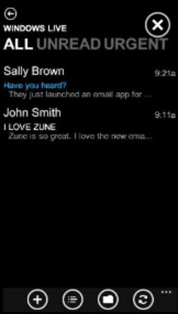 Zune HD finally gets an e-mail application, still waiting on a future