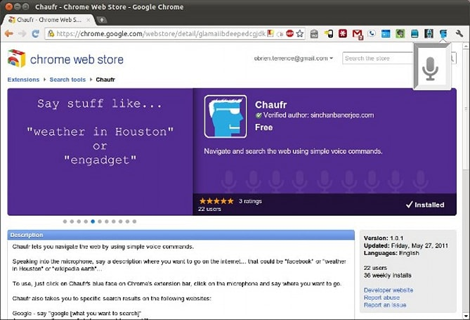 Chaufr lets you shout searches, yell URLs at Chrome