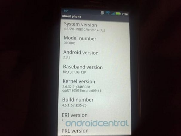 Droid X gets genuine Gingerbread update, leaked build floats out for the impatient