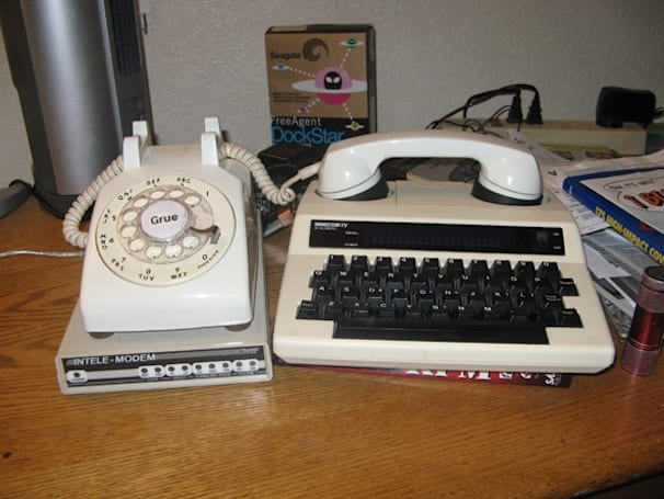 Telecommunications device for the deaf gets hitched to a rotary phone, hacked to run Zork