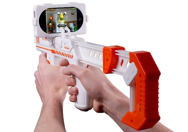 appBlaster iPhone accessory lets you kick AR alien butt, bubblegum not included