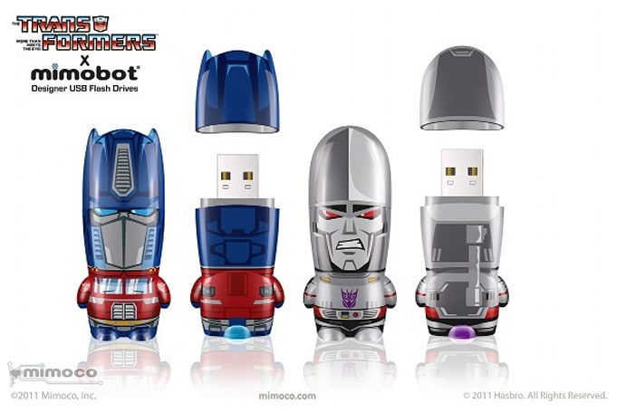 Mimobot Transformers thumb drives are exactly what meets the eye