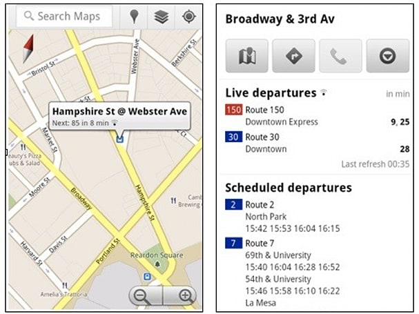 Live transit updates in Google Maps help you plan your romantic bus-catching sprint