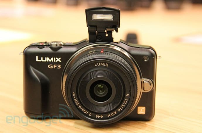 Panasonic Lumix GF3 official: 12.1 MP, 1080i video, no hot shoe in sight (hands-on)