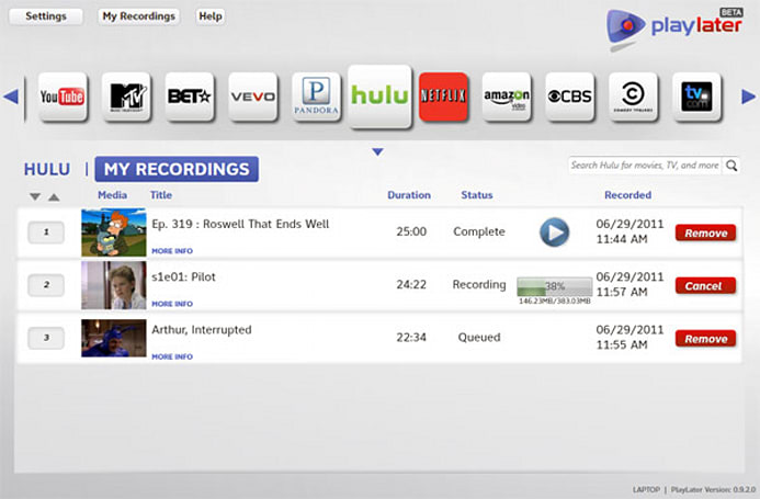 MediaMall's PlayLater brings DVR to internet video